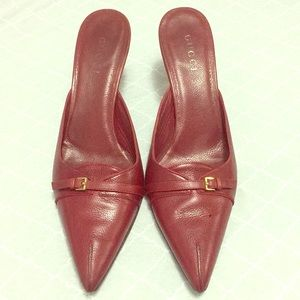 Gucci Maroon Heels 3inches high Size (10 1/2)